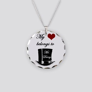 Mr. Darcy Heart Necklace Circle Charm