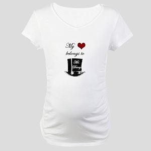 Mr. Darcy Heart Maternity T-Shirt