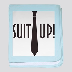 Suit Up! baby blanket