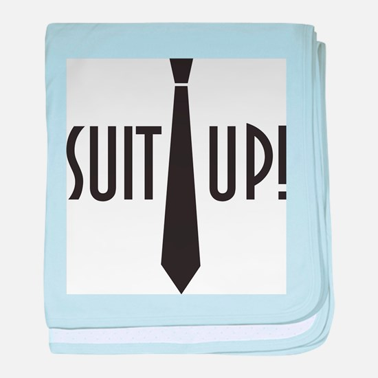 Suit Up! baby blanket