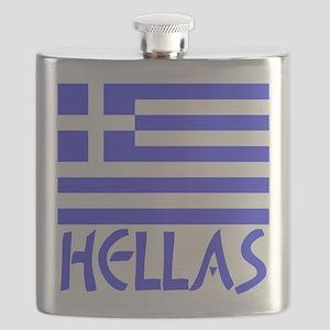 Greek Flag & Hellas Flask