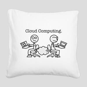 Cloud Computing Square Canvas Pillow