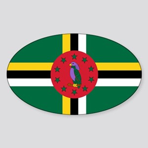 Flag of Dominica Sticker (Oval)