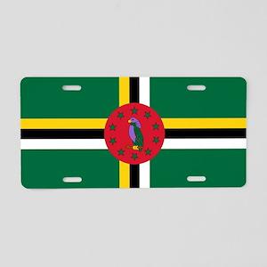 Flag of Dominica Aluminum License Plate