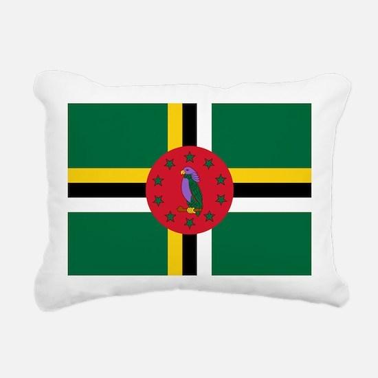 Flag of Dominica Rectangular Canvas Pillow