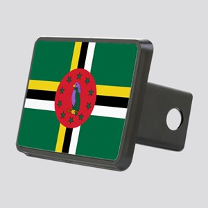 Flag of Dominica Rectangular Hitch Cover