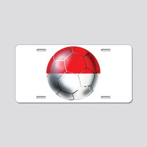 Monaco Soccer Ball Aluminum License Plate