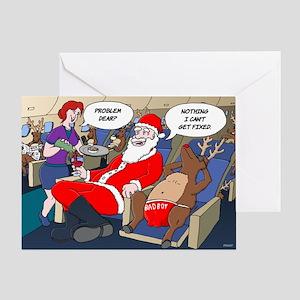 christmas cartoon greeting card - Aviation Christmas Cards