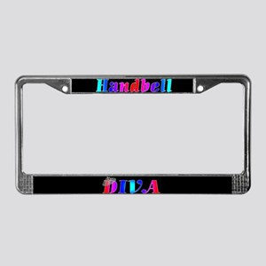 Handbell Diva Black License Plate Frame