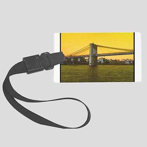 Retro Brooklyn Bridge Majestic NYC Large Luggage T