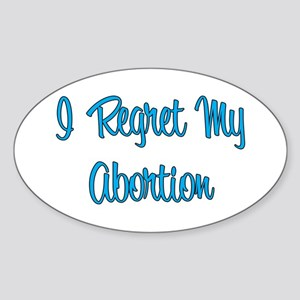 """I Regret..."" Oval Sticker"