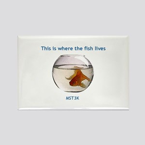 Where the fish lives Rectangle Magnet