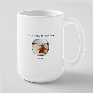 Where the fish lives Large Mug