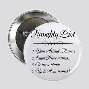 """Personalized Naughty List 2.25"""" Button"""