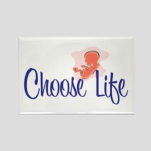 """Choose Life"" Rectangle Magnet (10 pack)"