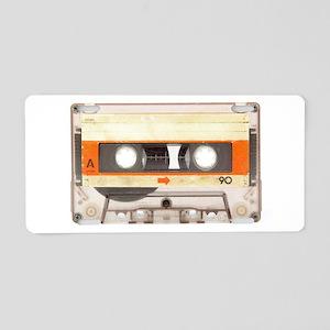 Retro Vintage Style Cassette Tape Aluminum License