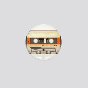 Retro Vintage Style Cassette Tape Mini Button