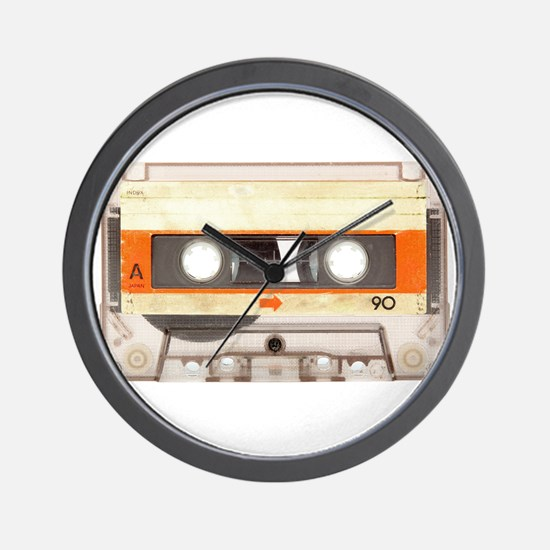 Retro Vintage Style Cassette Tape Wall Clock