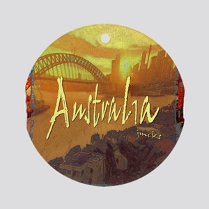 australia art illustration Ornament (Round)