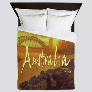 australia art illustration Queen Duvet