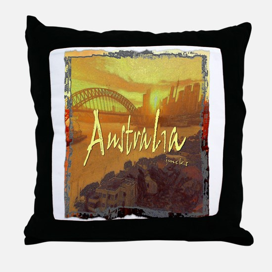 australia art illustration Throw Pillow