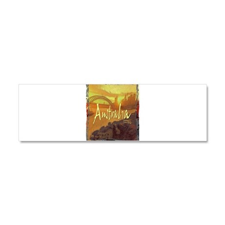 australia art illustration Car Magnet 10 x 3