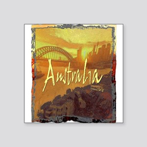 "australia art illustration Square Sticker 3"" x 3"""