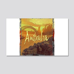 australia art illustration 20x12 Wall Decal