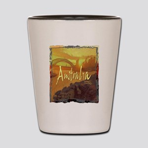 australia art illustration Shot Glass