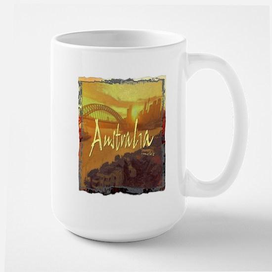 australia art illustration Large Mug