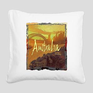 australia art illustration Square Canvas Pillow