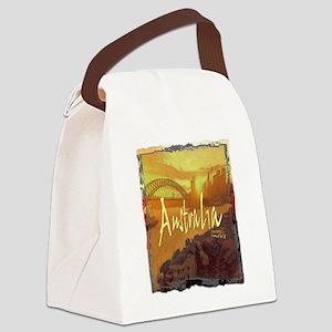 australia art illustration Canvas Lunch Bag