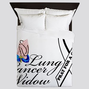 Lung Cancer Widow Queen Duvet