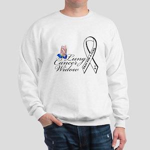 Lung Cancer Widow Sweatshirt