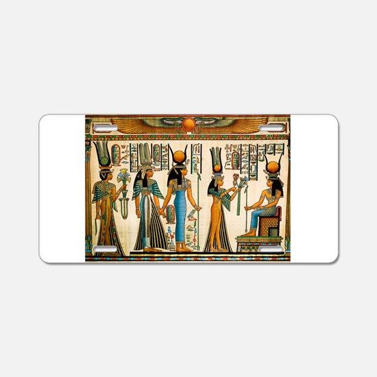 Ancient Egyptian Wall Tapestry Aluminum License Pl