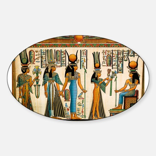 Ancient Egyptian Wall Tapestry Sticker (Oval)