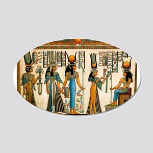 Ancient Egyptian Wall Tapestry 20x12 Oval Wall Dec