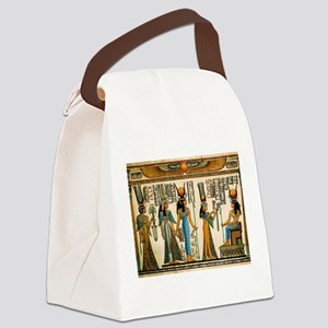 Ancient Egyptian Wall Tapestry Canvas Lunch Bag