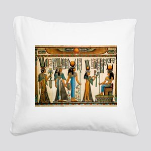 Ancient Egyptian Wall Tapestry Square Canvas Pillo