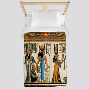 Ancient Egyptian Wall Tapestry Twin Duvet