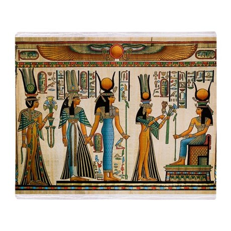 Ancient Egyptian Wall Tapestry Throw Blanket