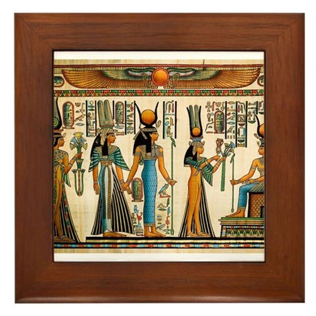 Ancient Egyptian Wall Tapestry Framed Tile