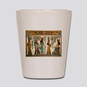 Ancient Egyptian Wall Tapestry Shot Glass