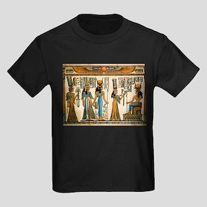 Ancient Egyptian Wall Tapestry Kids Dark T-Shirt
