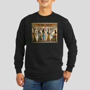 Ancient Egyptian Wall Tapestry Long Sleeve Dark T-