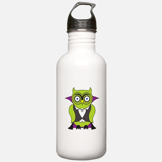 Halloween Vampire Owl Water Bottle