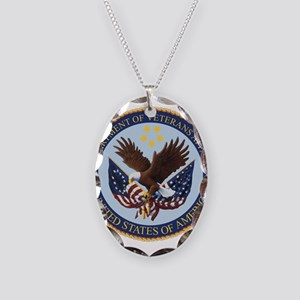 VA seal Necklace Oval Charm