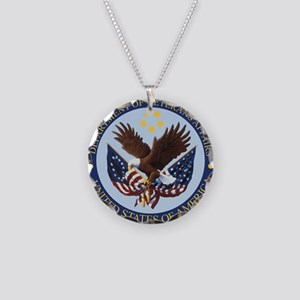 VA seal Necklace Circle Charm