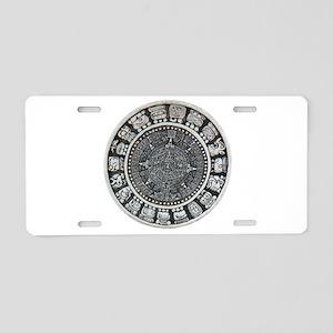 Aztec Mayan Sun Dial Aluminum License Plate