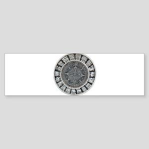 Aztec Mayan Sun Dial Sticker (Bumper)
